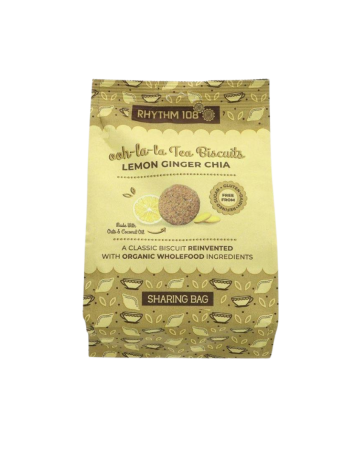 Rhythm108 Lemon Ginger Chia Tea Biscuits