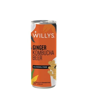 Willy's Alcohol Free Ginger Kombucha Beer
