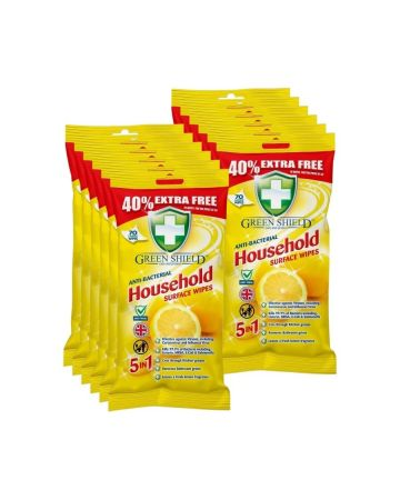 Green Shield Antibacterial Household Surface Wipes 70s