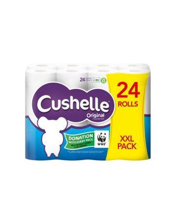 Cushelle Toilet Roll White 24s