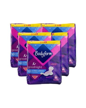 Bodyform Ultra Goodnight With Wings 10s (pm £1.49)