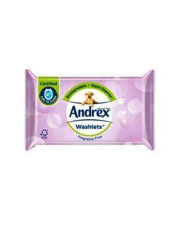 Andrex Fragrance Free Washlets 36's