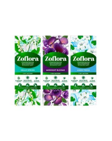 Zoflora Assorted 120ml (Midnight Blooms, Linen Fresh, Hello Spring)