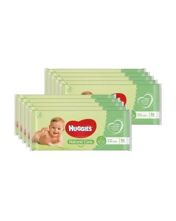 Huggies Natural Care Wipes 56's
