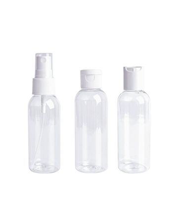 Clear Travel Bottles Set 100ml