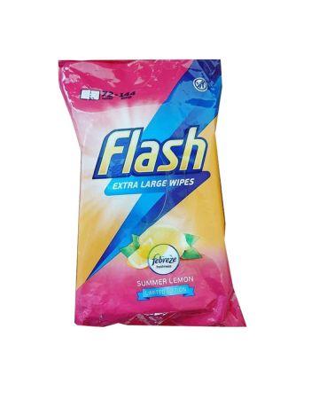 Flash Wipes Lemon Extra Large 72s