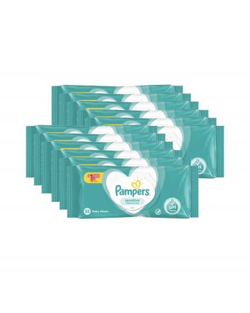 Pampers Sensitive Baby Wipes 52s (pm £1.00)