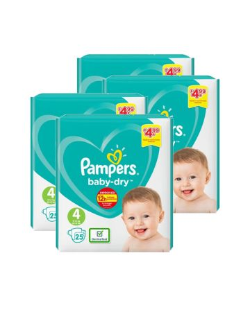 Pampers Baby Dry Maxi Size 4 25s (pm £4.99)