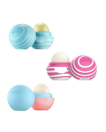 Eos Lip Balm Assortment 7g (visibly Soft Vanilla Mint, Cherry & Bright, Lychee & Raspberry)