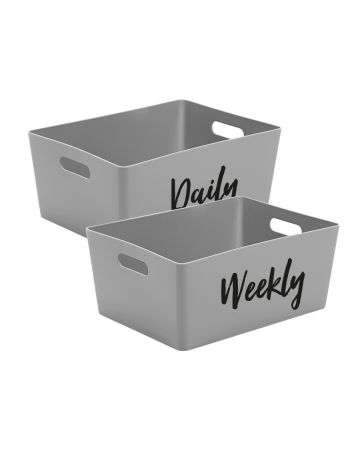 Daily And Weekly Storage Box - Grey